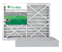 AFB Silver MERV 8 13x21.5x4 Pleated AC Furnace Air Filter. Filters. 100% produced in the USA. (Pack of 2)