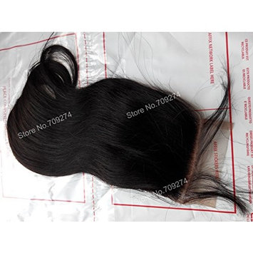 unprocessed indian virgin remy hair lace closure natural straight 4in 4in (8