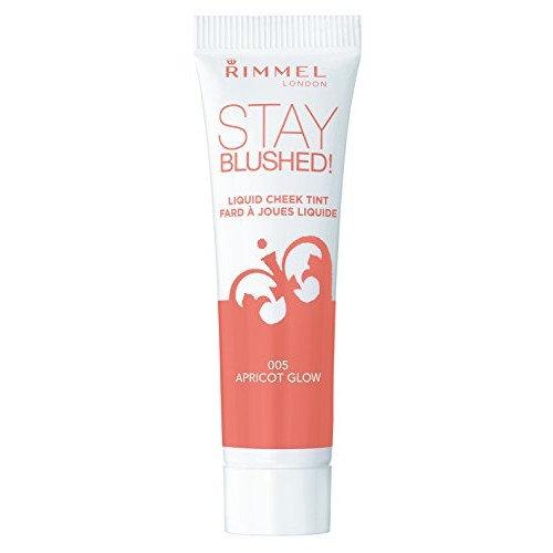 Rimmel Stay Blushed Liquid Cheek Tint, Apricot Glow, 0.47 Fluid Ounce