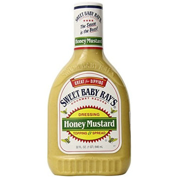 Sweet Baby Rays Honey Mustard Dressing Topping and Spread, 32 Fluid Ounce