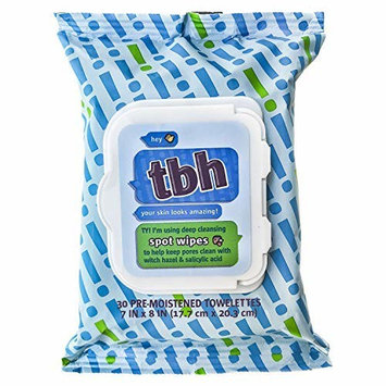 TBH Kids Spot Wash Wipes - Cleansing Face Wipes - Acne Prevention - Sulfate, Paraben Free - 30 Pack [Spot Face Wipes]