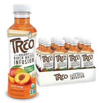 Organic Treo - Fruit and Birch Water Drink, Peach Mango, 16 Fl oz.