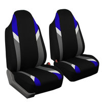 FH Group Modernistic Blue & Black Fabric Auto Seat Covers (Set of 2)