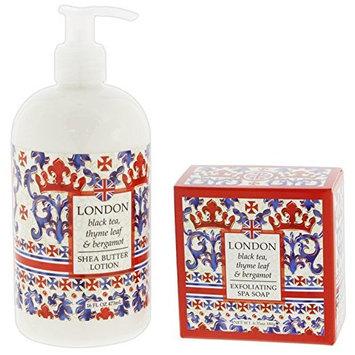 Bundle of 2 Greenwich Bay Destination Collection Shea Butter Bar Soap & Lotion Set (