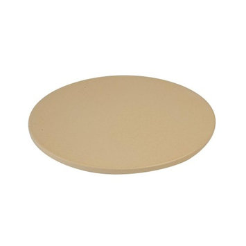 pizzacraft Grill Tools 14 in. Round Glazed Pizza Stone in Clear silver PC0113