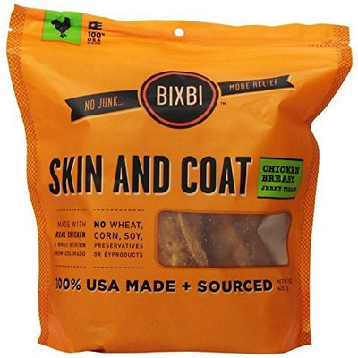 BIXBI Immune Support Dog Jerky Treats, Chicken [Chicken, Skin & Coat Support]