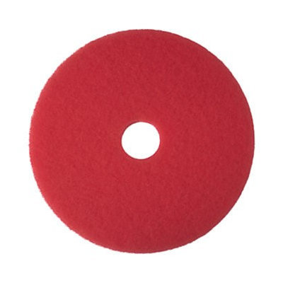 3m Buffer Pad, Removes Scuff Marks, 16, 5/CT, Red