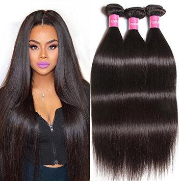 Longqi Beauty Brazilian Straight Hair 3 Bundles Remy Silky Straight Virgin Human Hair Straight Bundles Natural Black Color 7A Top Quality