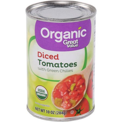 Great Value Organic Diced Tomatoes With Green Chilies