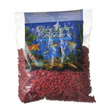 Pure Water Pebbles Aquarium Gravel Currant Red - 2 lbs - (Grain Size 3.1-6.33 mm)