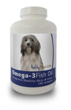 Healthy Breeds 840235142058 Tibetan Terrier Omega-3 Fish Oil Softgels - 180 count