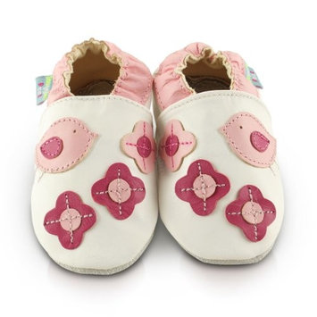 Snuggle Feet Soft Leather Baby Shoes | Toddler Shoes | 0-6 months, 6-12 months, 12-18 months, 18-24 months, 2-3 years (6-12 months, Birds)