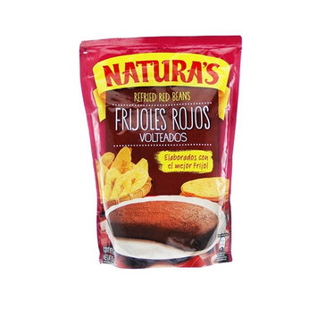 Refried Red Kidney Beans:Natura'sFrijoles Rojos Volteados   100% Plant Based   Ready To Serve  Made With Ground Beans of Beans No Preservative,No Artificial Colors 100% Natural(800g,28.2 oz) 3pack