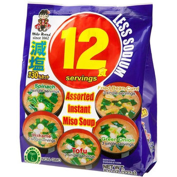 Miyasaka Instant Miso Soup 12 Serving Pack with Less Sodium, 6.39 Ounce