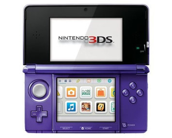 Nintendo 3DS Handheld Gaming System - Midnight Purple