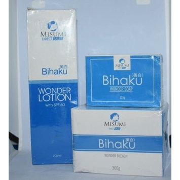 MISUMI BIHAKU TRIO (BIHAKU BLEACH 300g, SOAP 135g, LOTION 200ml)