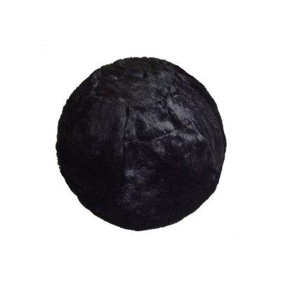 Chicrugz Black Slipcover Yoga Ball with Inner High Quality Bouncy Fur Ball