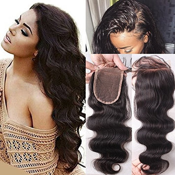 Thriving Hair Brazilian Virgin Hair Lace Cosure for Black Women Body Wave Free Middle Three Part Lace Closure with Baby Hair