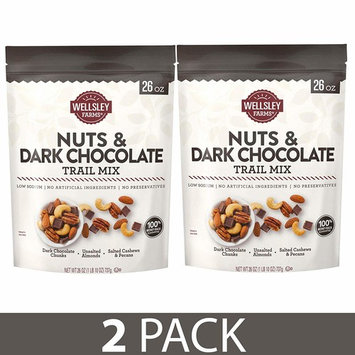 Wellsley Farms Nuts and Dark Chocolate Trail Mix, 26 oz.   2 PACK