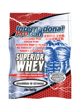 International Protein Superior Whey Powder, Cookies & Cream, 2 Lb