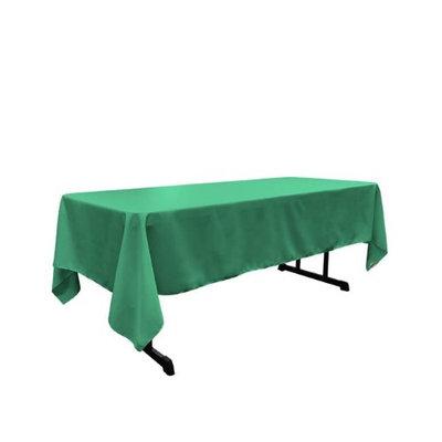 LA Linen TCpop60x144-JadeP53 Polyester Poplin Rectangular Tablecloth Jade - 60 x 144 in.