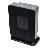 King Electric 1500-Watt Ceramic Electronic Portable Heater with Gfci Plug Black