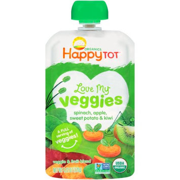 Nurture Happy Tot Organics Love My Veggies Veggie; Fruit Blend Baby Food Pouch, Spinach, Apple, Sweet Potato; Kiwi, 4.22 Oz