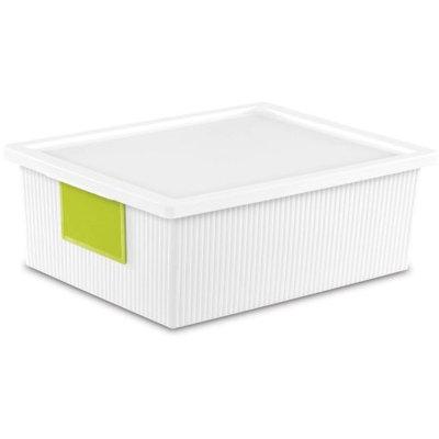 Sterilite Corporation Sterilite 10.2 Quart ID Box- White (Available in Case of 6 or Single Unit)