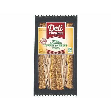 Deli Express Turkey Cheese Wheat Sandwich, 4.2 Ounce -- 10 per case.