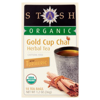 Stash Organic Gold Cup Chai Herbal Tea, 18 count, 1.2 oz, 6 pack