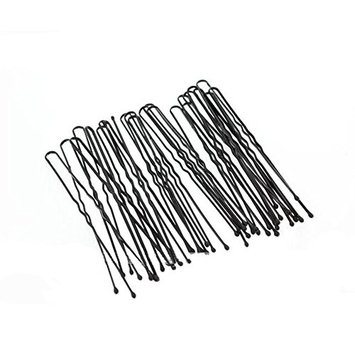 Black Waved Hair Pins Bun Pins Hair Slides Grips Longer Length 7cm Classic Hair Accessory Perfect for Buns Up-Dos and More (50pcs)