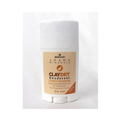 Adama Claydry Natural Deodorant (3 Pack Sweet AmberTravel Size)