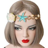 LuckyZ Handmake Wedding Bridal Beautiful Beach Shell Forehead Headband Hair Band, Bridal Hair Accessorie Headpieces