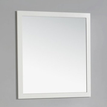 Simpli Home Cape Cod 34 in. L x 32 in. W Wall Mounted Decor Vanity Mirror in Soft White