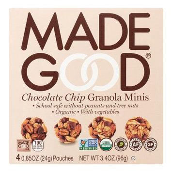 Nassau Candy 966604 5.1 oz Made Good Mini Granola Choc Chip Bar - Pack of 6