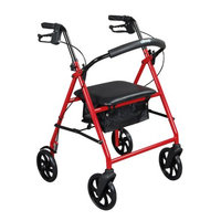 Drive Medical Steel Walker Rollator with 8