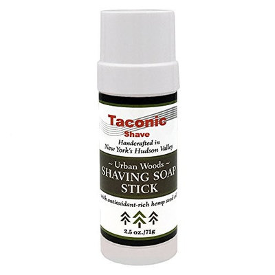 Taconic Shave Barbershop Quality Urban Woods Shaving Soap Stick with Antioxidant-Rich Hemp Seed Oil 2.5 oz./71g