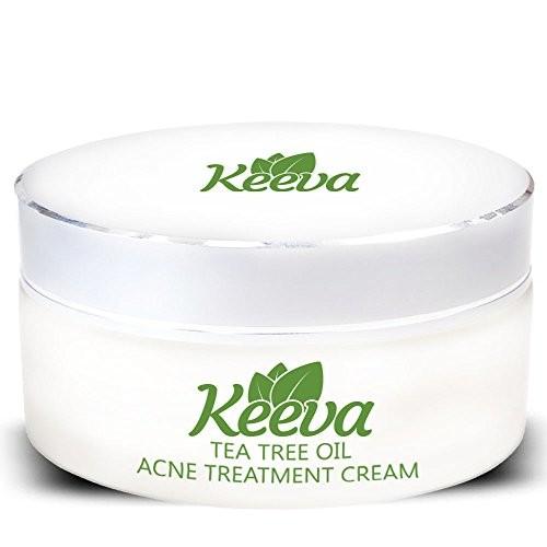 Keeva Organics Tea Tree Oil for Acne Treatment - 1 Step Natural Formula Fights Blemishes, Spots, Scars, Cystic Bumps, Blackheads & Bacne