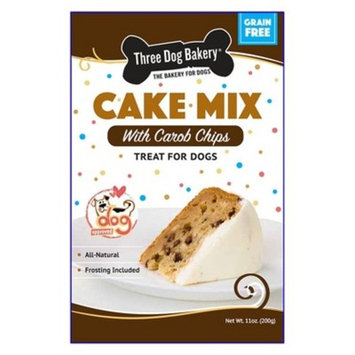 Three Dog Bakery Cake Mix Grain Free with Carob Chips Dog Treats