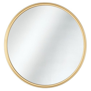 Home Decorators Collection 24 in. x 24 in. Framed Fog Free Round Mirror in G