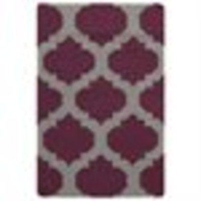 2' x 3' Gated Passage Purple and Gray Hand Woven Wool Reversible Area Throw Rug