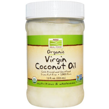 Now Foods, Real Food, Organic, Virgin Coconut Oil, 12 fl oz (pack of 6)