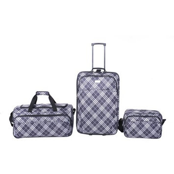 Protg Protege 3-Piece Plaid Fashion Luggage Set