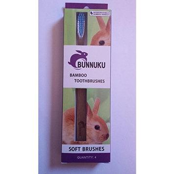 Toothbrushes -Natural Bamboo w/BPA Free, Soft, 15 Degree Angle Bristles