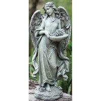 Roman Pack Of 2 Joseph's Studio Angel Bird Feeder / Bath Outdoor Garden