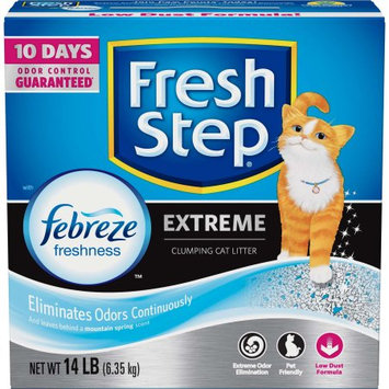 The Clorox Company Fresh Step Extreme Odor Control Scented Scoopable Cat Litter, 14-lb Carton