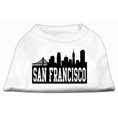 Mirage Pet Products 5172 LGWT San Francisco Skyline Screen Print Shirt White Lg 14