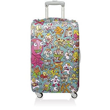 Loqi Suitcase Cover Holiday Identity Travel Bag Luggage Protection Artist Designer Brosmind Folks Cover