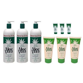 Triple Lanolin Aloe Vera Combo Hand & Body Lotion *contains 3-20oz Bottle, 3-2.25oz & 3- .75oz Tubes
