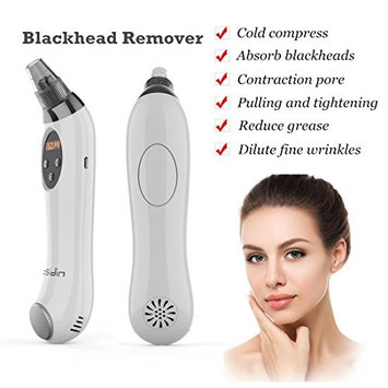 Blackhead Remover Facial Pore Cleaner-Exclusively includes Ice Cool fuction to shrink the pores-Pore Vacuum Acne Extractor Facial Cleaner Tool